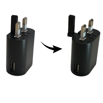 COMPACT P-SERIES Switching Adaptors with Extractable UK Earth Pin (up to 16W)