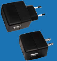 WALL-MOUNTED K-SERIES (USB INLET) Universal Switching Adaptors with Fixed AC Plugs (up to 5W)