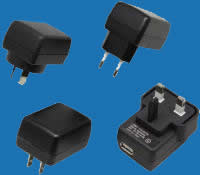 WALL-MOUNTED H-SERIES (USB INLET) Universal Switching Adaptors with Fixed AC Plugs (up to 8W)