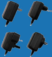 WALL-MOUNTED SWITCHING H-SERIES Adaptors with fixed AC Plugs for Electronic Toys and Games (up to 8W)