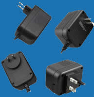 WALL-MOUNTED SWITCHING W-SERIES Adaptors with Fixed AC Plugs for Electronic Toys and Games (up to 40W)